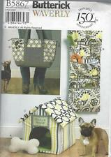 BUTTERICK SEWING PATTERN WAVERLY DOG HOUSE TOY MAT CARRY BAG ORGANIZER B5867