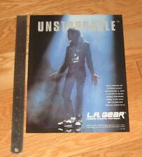 Michael Jackson original L.A. GEAR SHOES magazine page AD advertisement UNSTOPPA