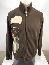 Analog Men's Brown Full zip Fleece Lined Snowboard Sweatshirt Jacket Size M  *F