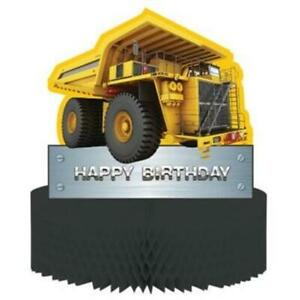 Construction Zone Happy Birthday Centerpiece Boy Party Decoration