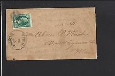 CARSON, IOWA 1882 VF 3CT BANKNOTE COVER, POTTAWATTOMIE CO. 1880/OP EARLY.