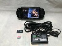 Sony PSP 1000 Black  System with one Game  & Memory Card Bundle