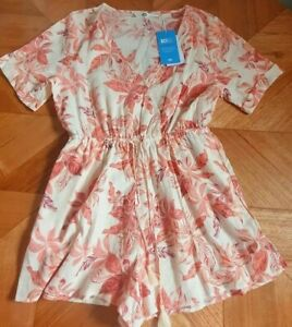 Target Piping Hot - Tropical Floral Playsuit/Romper - Size 14 RRP $35