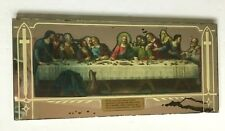 Vintage Last Supper Reverse Painted Glass Mirror