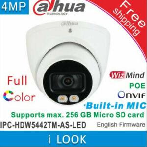 Dahua FullColor IPC-HDW5442TM-AS-LED 4MP Starlight PoE MIC IP Network AI Camera