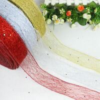 Christmas Sprinkling Ribbon Lace Xmas Tree Decor Wedding 200*5CM Party Orna Z5G5