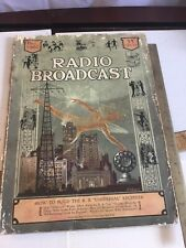 New listing 1926 Radio Broadcast Magazine Early Tv See By Radio Dempsey Tunney Fight