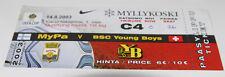 Ticket for collectors EC MyPa - BSC Young Boys 2003 Finland Switzerland Schweiz