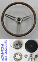 Blazer C10 C20 C30 Pick Up Grant Steering Wheel Red/Blk Cap Hardwood walnut 15""