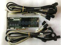 Adaptec ASR-71605 16-Port 6Gb/s 1GB SAS SATA PCIe RAID Controller+8643 to sata*4