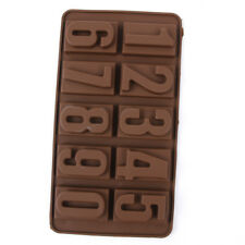 Silikon Zahlen Schokoladenform Cookies 3D Digital Form Fondant Kuchen Dekorieren