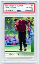 2001 Upper Deck TIGER WOODS #1 PSA 10 Gem Mint UD Golf Rookie RC