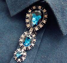 Amazing Men Groom Bridal Wedding Party Rhinestone Chocker Necktie Necklace Tie