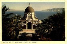 Berg der Seligpreisungen Israel alte AK ~1950/60 Kirche Blick auf See Genezareth