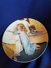 """8.5"""" Reco Knowles Plate """"Evening Prayer"""" by John McClelland 1987"""