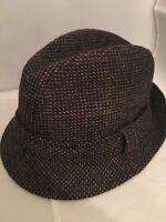 Country Gentleman Medium Vintage Men's Fedora Wool Brown Pattern