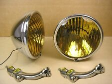 1936 1938 Pontiac Fog Lamp with Chrome Bracket Pair, CKC9406