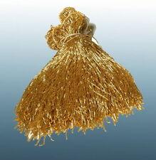 "Gold Glass Belly Dance Beaded Fringe Size 40"" x 8"" L@@K"
