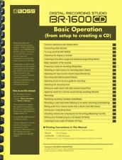 Boss BR-1600CD Digital Recording Studio BASIC OPERATION MANUAL & PATCH LIST