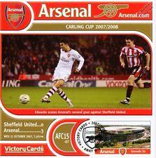 Arsenal 2007-08 Sheffield United (Eduardo) Football Stamp Victory Card #715
