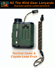 N2 The Wild Gear Lanyards Tactical Camo & Coyote Coiled Paracord Lanyard Tether