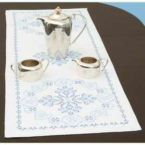 """Stamped Table Runner/Scarf 15""""X42"""" XX Americana 013155343663"""