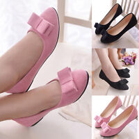 Women Ballet Flats Shoes Work Sweet Bowknot Sweet Loafers Slip On Boat Shoes New