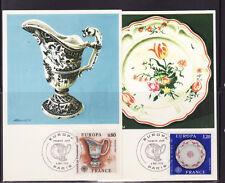 carte  1er jour  paire Europa  faience et porcelaine   Paris   1976
