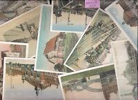 120 historische Postkarten -Neudrucke (Reprint) - Motiv: Eisenbahn und Bahnhof