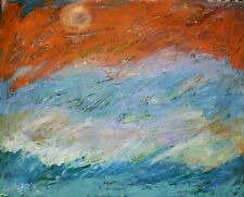 Sunset Ocean Splendor Georganne Bishop Modern Original Painting Oil Expressionis