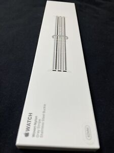 New SEALED Genuine Apple  42MM Gray Stripe Woven Nylon Watch Band Authentic