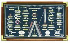 Quadro con i nodi artigianale NODI MARINARI stile marina cornice legno e ottone