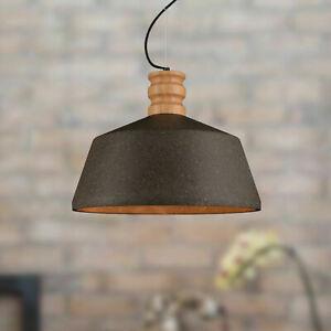Modern Industrial E27 Pendant Light Concrete Ceiling Lights Wooden Chandelier