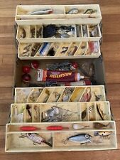 New listing Antique Old Pal woodstream tackle box filled with antique lures