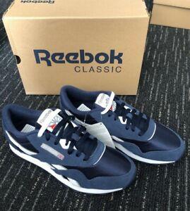 Reebok Classic CL Nylon Navy Blue / White Size 9 *BRAND NEW*