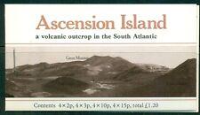 ASCENSION 282a SG#SB3 MNH 1981 £1.20 Flower Booklet Rd Brn Volcano Cover Cat$15