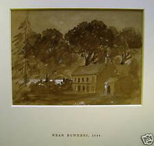 Original Watercolour Bowness Windermere Lakes 1854
