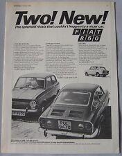 1968 Fiat 850 Original advert No.1