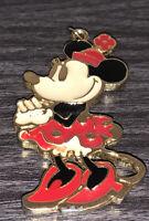 Vintage Colorful Enamel & Gold Tone Disney Minnie Mouse Pendant Charm