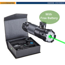 Pinty Hunting Rifle Scope Green Dot Laser Sight Adjustable w/ Mounts & Batteries