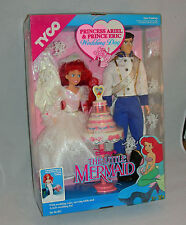 The Little Mermaid Princess Ariel And Prince Eric Wedding Day 1991 By Tyco - New