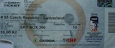 TICKET Sky Box Eishockey WM 12.5.2015 Tschechien - Schweiz in Prag