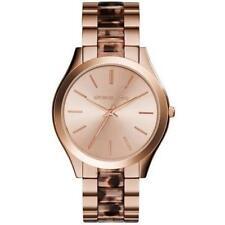 Michael Kors Slim Runway MK4301 Rose Gold Tortoise Acetate Ladies Watch