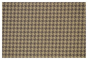 """Light and Dark Brown Houndstooth Canvas Tweed Fabric 55""""W Seat Upholstery Auto"""