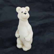 Second Nature Design 2000 Quarry Critters Poncho White Stone Polar Bear 4 3/4