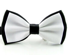 Men's Fashion Tuxedo Silk Satin Assorted Color Adjustable Wedding Bowtie Bow Tie