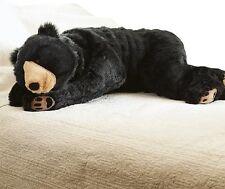 Large Plush Black Bear Body Pillow Giant Oversized Stuffy Soft Stuffed Teddy Toy