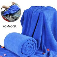 60 X 160cm Microfibre Cleaning Car Detailing Soft Cloths Wash Towel Duster Blue