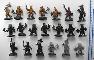 20 BLOOD WARRIORS Plastic Blades of Khorne Bloodbound Chaos Warriors Army 92