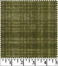 Shadow Play  Woolies  Flannel - Olive Green Windowpane #18501-G